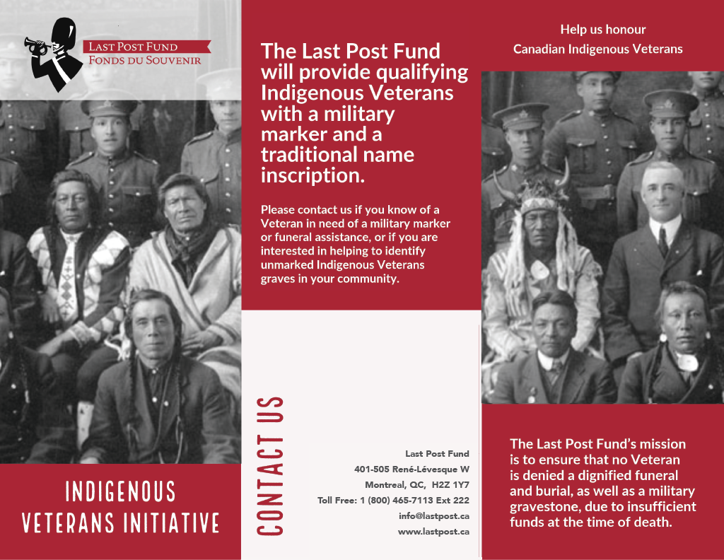 Indigenous Veterans Initiative Pamphlet