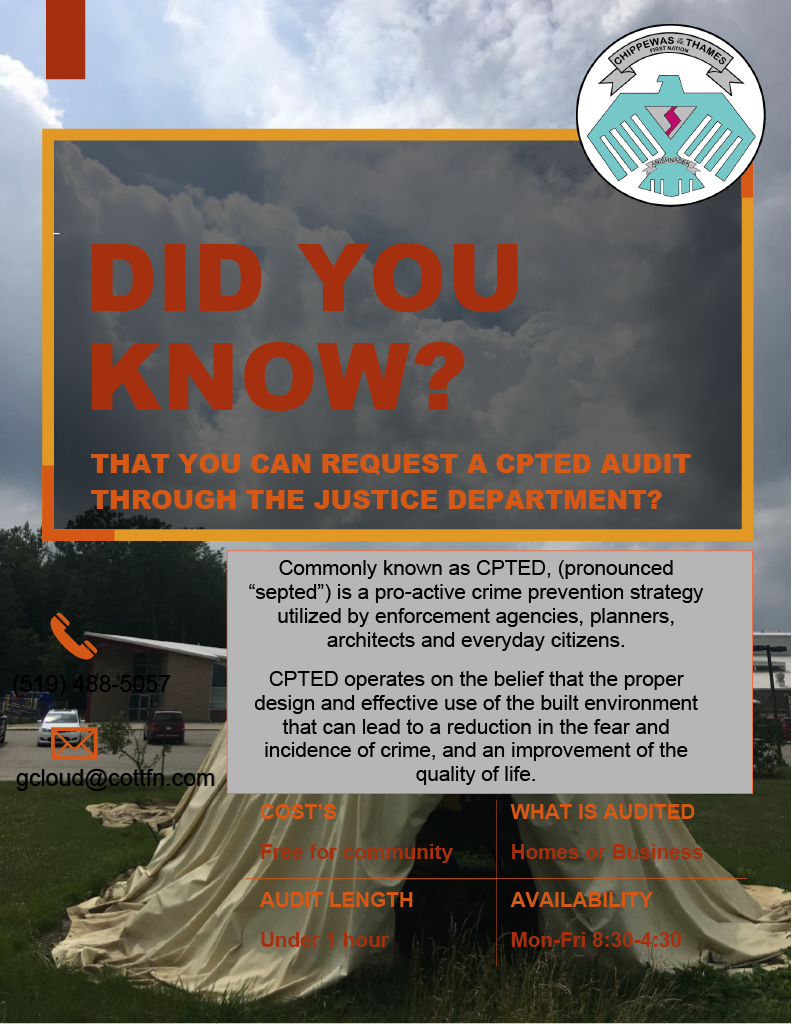 CPTED Audit Flyer
