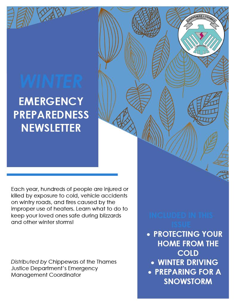 Winter COTTFN Emergency Preparedness Newsletter Page 1