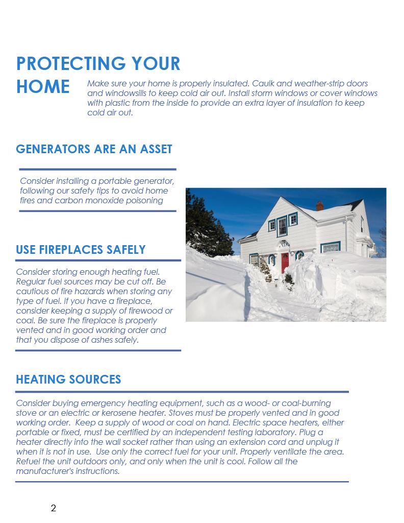 Winter COTTFN Emergency Preparedness Newsletter Page 2