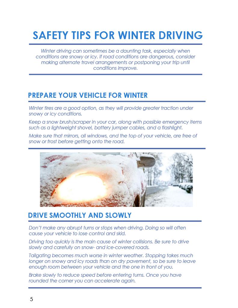 Winter COTTFN Emergency Preparedness Newsletter Page 5