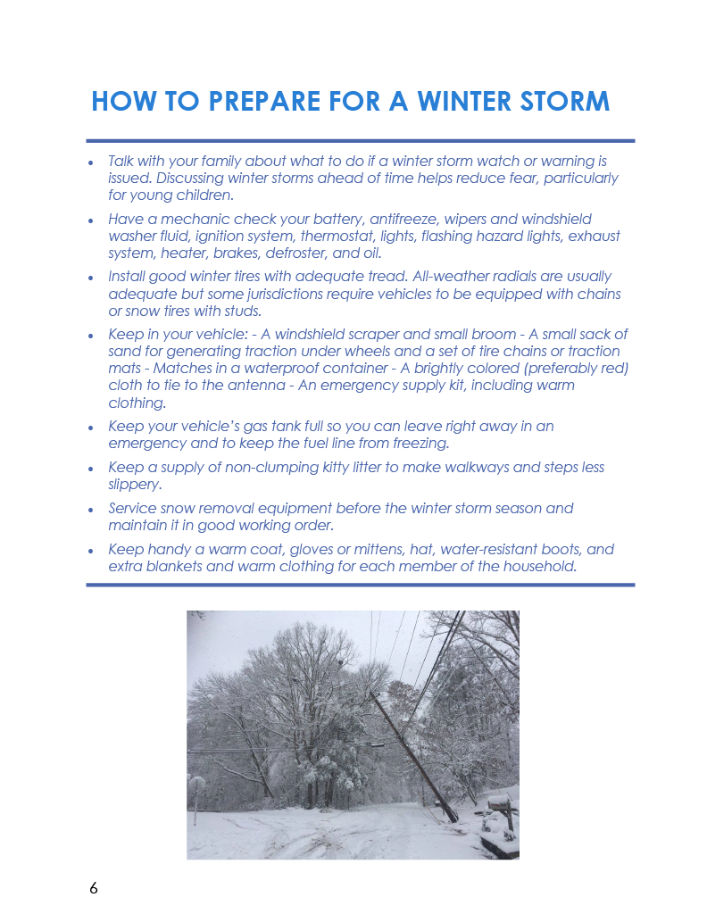 Winter COTTFN Emergency Preparedness Newsletter Page 6