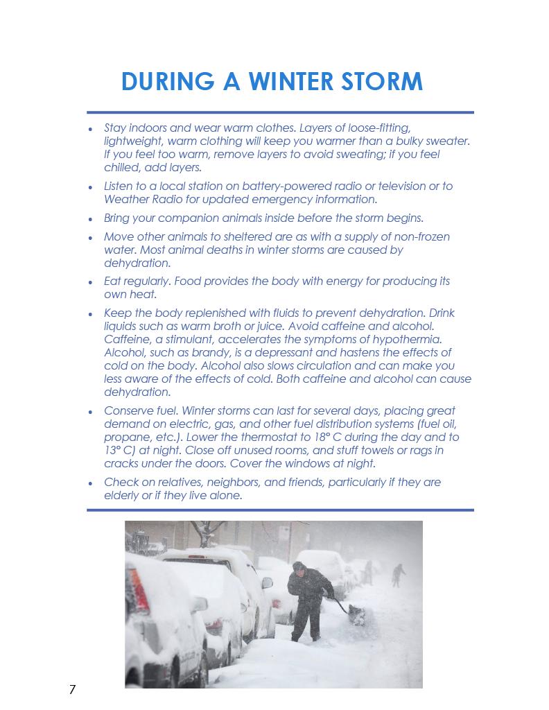 Winter COTTFN Emergency Preparedness Newsletter Page 7