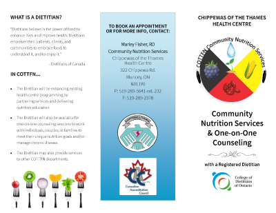 Community Nutrition Services and One-on-One Counseling pamphlet