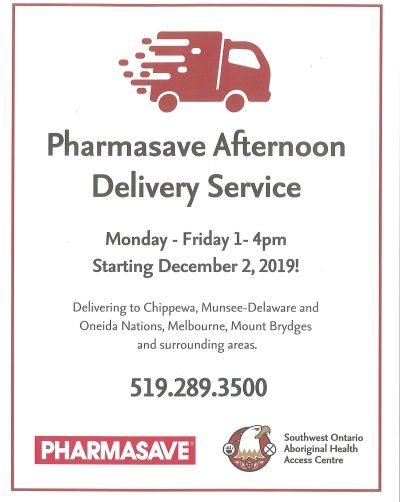 Pharmasave Afternoon Delivery Service Flyer