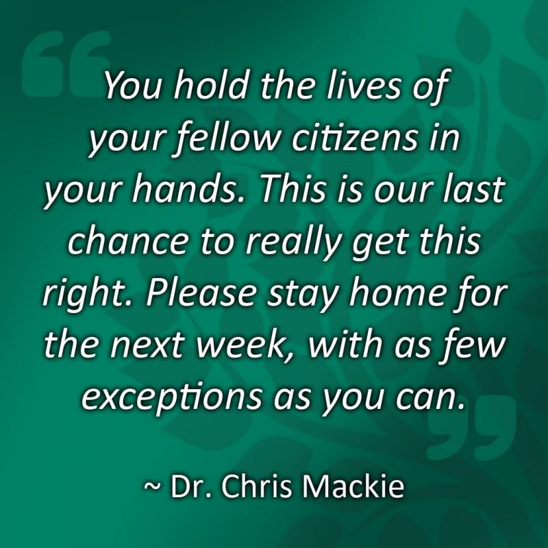 Quote from Dr Chris Mackie